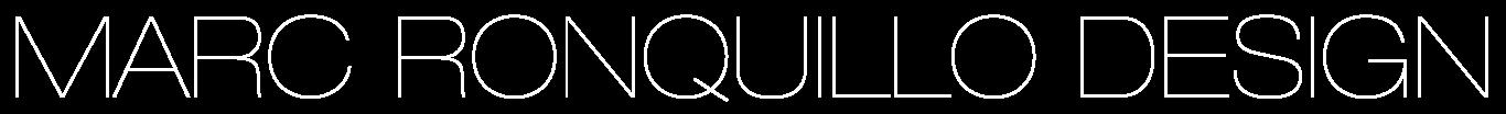 MARC RONQUILLO DESIGN Logo