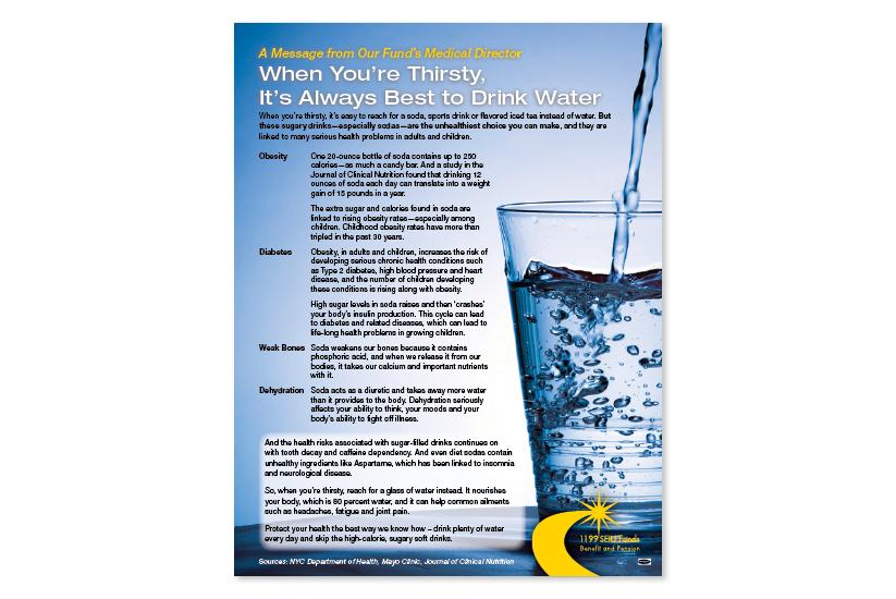 Anti-Softdrink Campaign Flyer