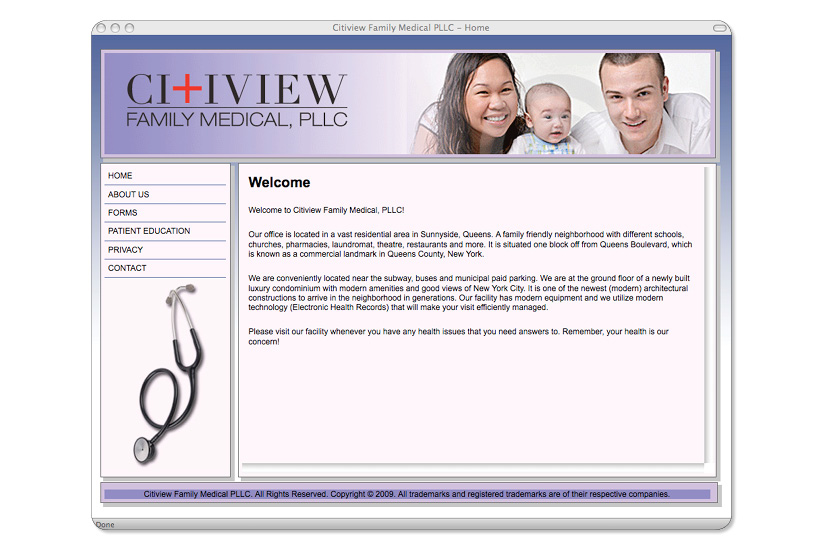 Citiview Family Medical LLC. Website