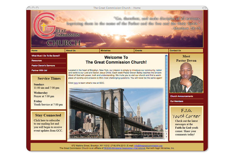 The Great Commission Church Website