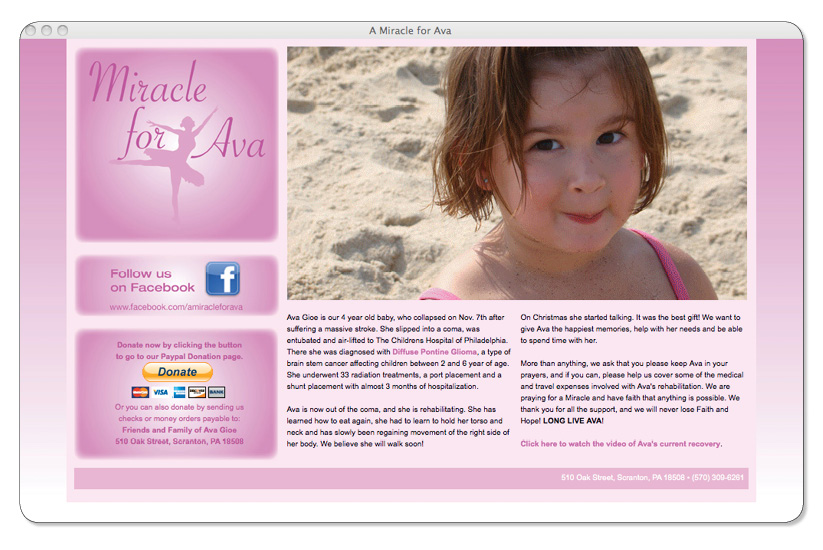 A Miracle for Ava Website