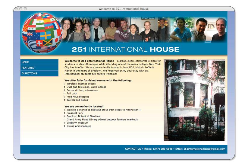 251 International House Website