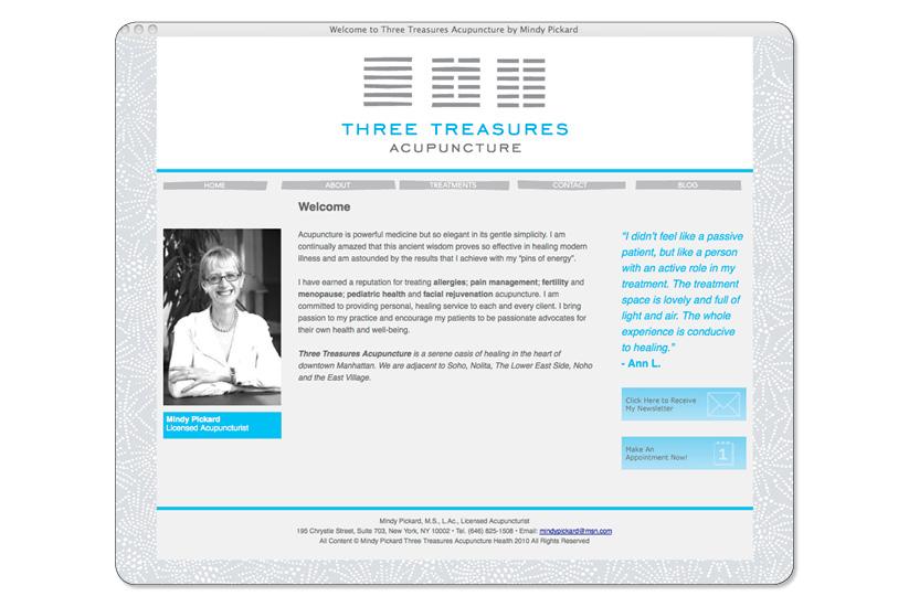 Three Treasures Acupuncture Website