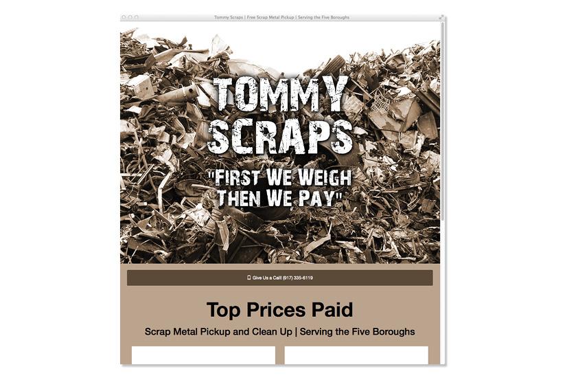 Tommy Scraps Website