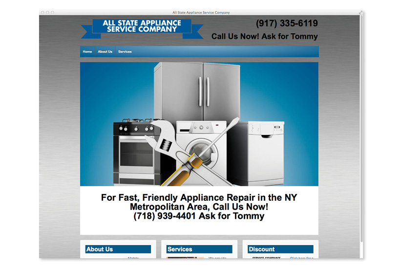 All State Appliance Service Company Website